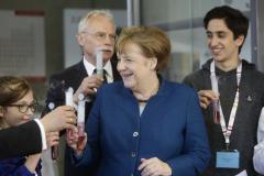 Wuppertal, Foto Anna Schwartz, Junior Uni, Bundeskanzlerin, Angela Merkel